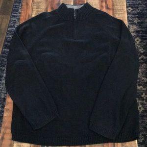 Wilke-Rodriguez men's black 1/4 sweater XL